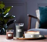 WoodWick Stone Washed Suede Medium Candle_