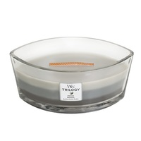 WoodWick Warm Woods Trilogy Ellipse Candle