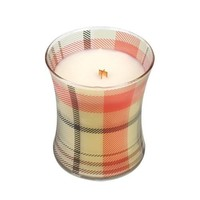 WoodWick Jolly Gingerbread Plaid Hourglass