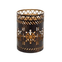 WoodWick Bronze Snowflake Candle Holder