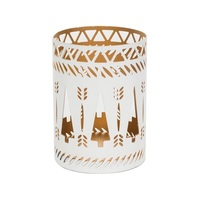 WoodWick White Trees Petite Candle Holder