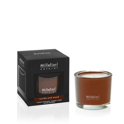 Millefiori Natural Vanilla & Wood Candle