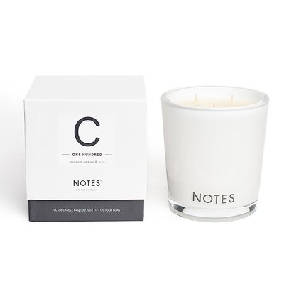 Notes C - Smoked Amber & Oud Large Candle