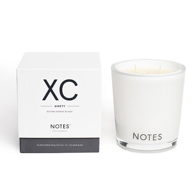 Notes XC - Blonde Leather & Rose Large Candle