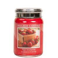 Village Candle Fresh Strawberries Large Candle