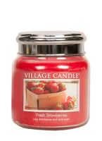 Village Candle Fresh Strawberries Medium Candle