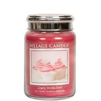 Village Candle Cherry Vanilla Swirl Large Candle
