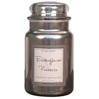 Village Candle Elderflower Prosecco Metallic Large Candle