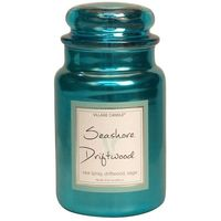 Village Candle Seashore Driftwood Metallic Large Candle