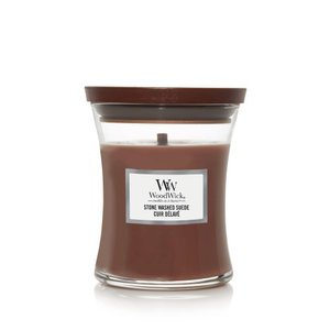 WoodWick Stone Washed Suede Medium Candle
